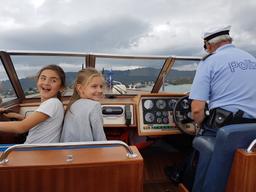 Auf dem Polizeischiff